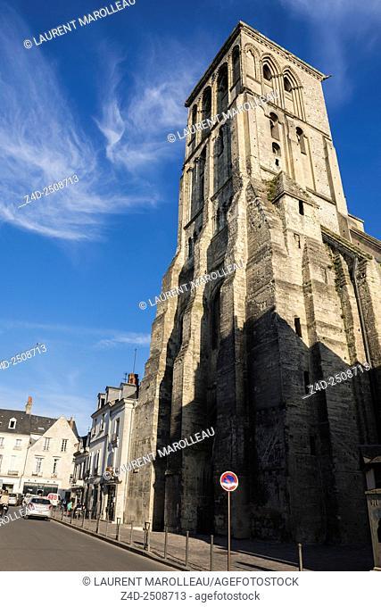 Tour Charlemagne (Old Saint Martin basilica). Tours, Indre et Loire, Loire Valley, France, Europe