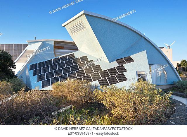 Bioclimatic Houses in the South of the island of Tenerife on January 3, 2016. Has been conceived as a laboratory of different bioclimatic techniques and for the...