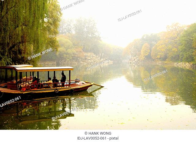 Boat in the lake, Kunming Lake, Summer Palace, Beijing, China