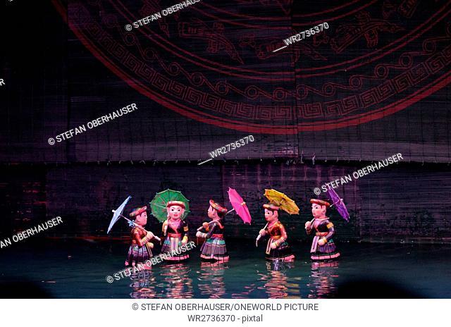 Vietnam, Hanoi, Vietnamese puppet theater in Hanoi