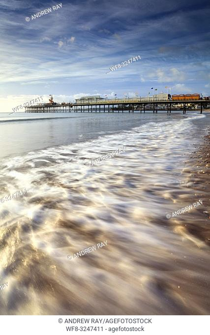 Paignton Pier on the South Coast of Devon captured on a morning in mid September