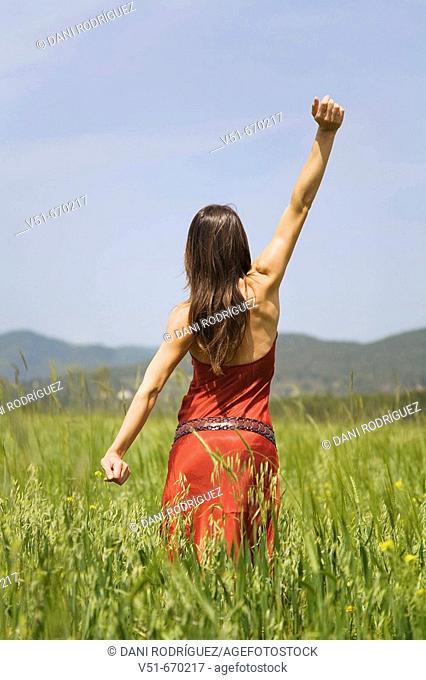 Young woman in the countryside