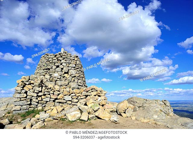 Tower in the top of Saint Peter mountain, Colmenar Viejo and Guadalix de la Sierra, Madrid, Spain