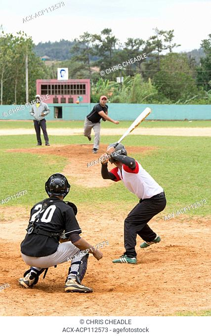 Recreational baseball on a Sunday afternoon, Vinales, Cuba
