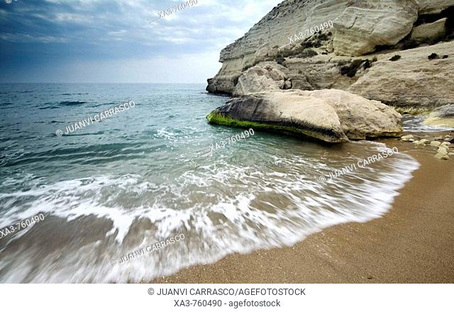 Agua amarga beach. Cabo de Gata-Nijar Biosphere Reserve, Almeria province, Andalucia, Spain