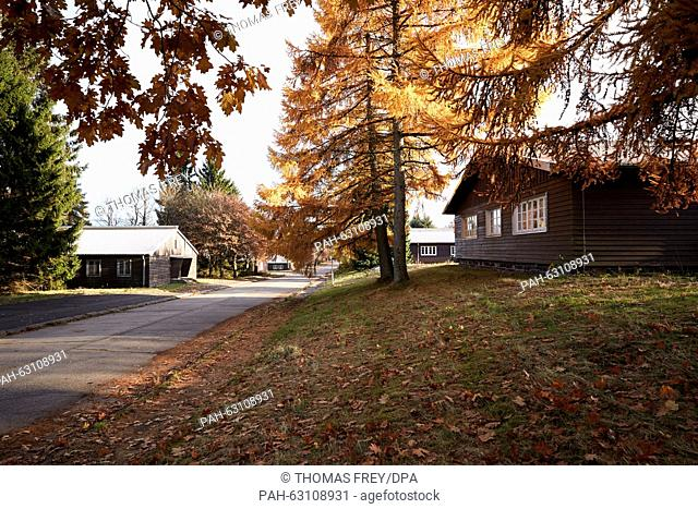 The building at the Stegskopf camp at the former military training grounds near Daaden,Germany, 29 October 2015. The first refugees have arrived earlier than...