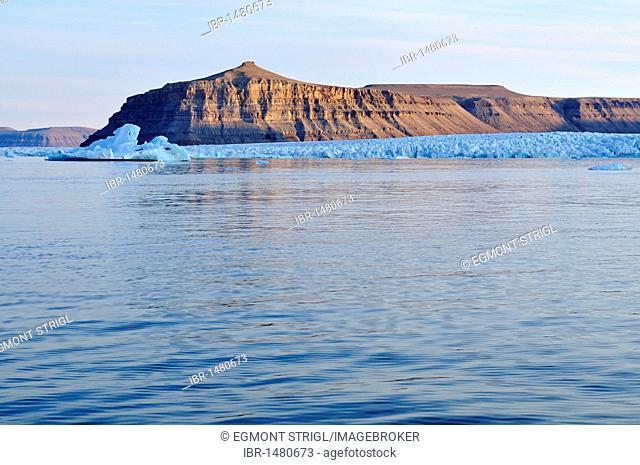 Tidewater glacier at Crocker Bay, Devon Island, Northwest Passage, Nunavut, Canada, Arctic