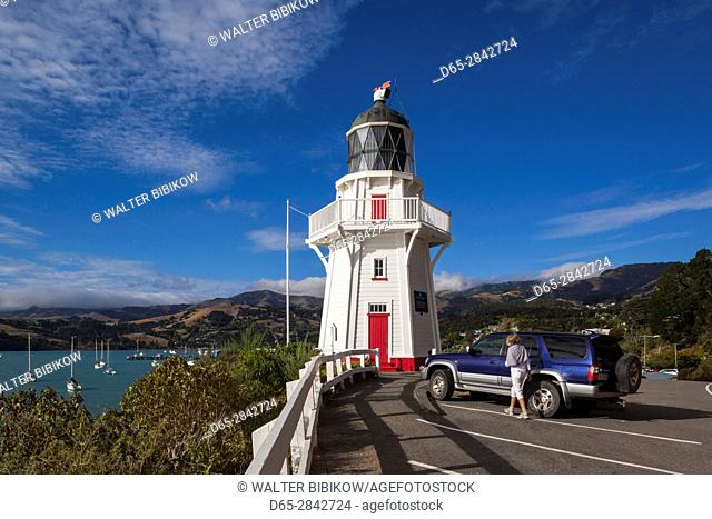 New Zealand, South Island, Canterbury, Banks Peninsula, Akaroa, Akaroa Lighthouse