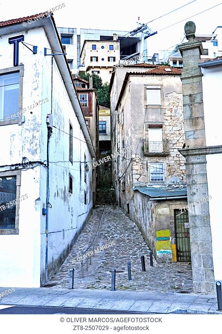 Streets of the city of Porto, Portugal