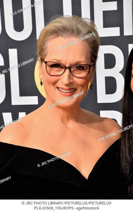 Meryl Streep at the 75th Annual Golden Globe Awards at the Beverly Hilton Hotel, Beverly Hills, USA 07 Jan. 2018