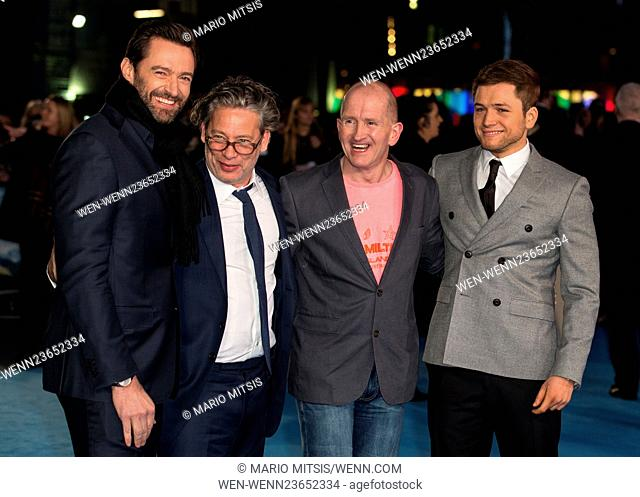 The European Premiere of 'Eddie The Eagle' held at the Odeon Leicester Square - Arrivals Featuring: Eddie the Eagle, Hugh Jackman, Taron Egerton