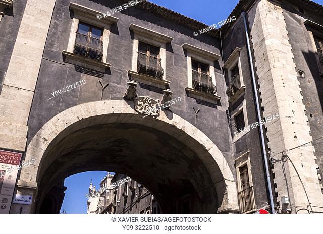 San Benedetto Arch, Catania, Sicily, Italy