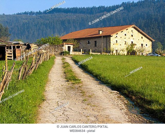 Farmhouse in Mañaria. Vizcaya. Basque Country. Spain