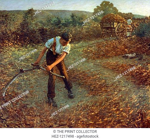 'Mowing Bracken', c1903, (1912). A colour print from Famous Paintings, with an introduction by Gilbert Chesterton, Cassell and Company, (London, New York