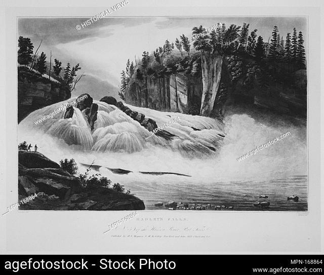Hadley's Falls (No. 5 of The Hudson River Portfolio). Series/Portfolio: The Hudson River Portfolio; Etcher: Begun by John Rubens Smith (American