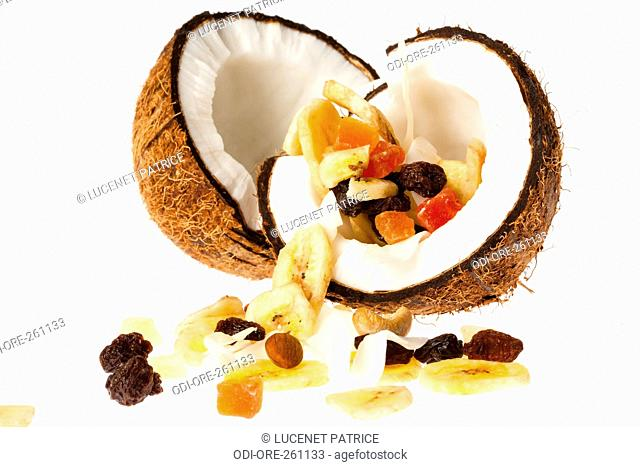 Coconut dry fruits