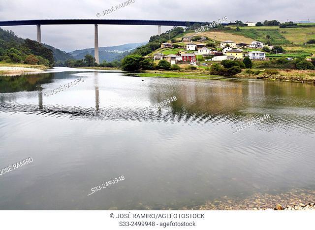 River Canero in Cueva. Asturias. Spain