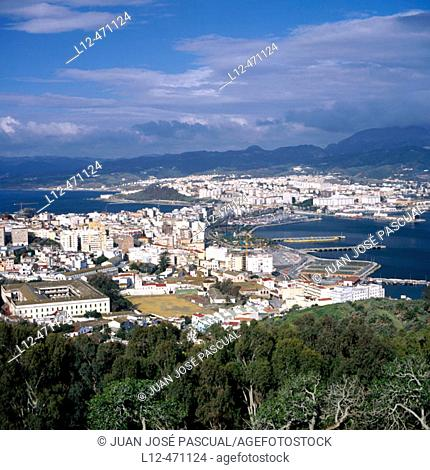 Overview from Monte Hacho, Ceuta, Spain