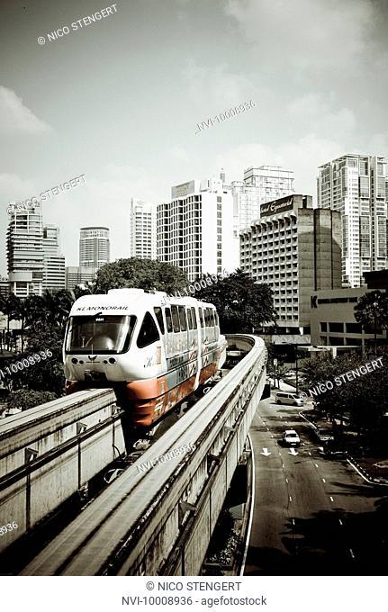 Monorail, Kuala Lumpur, Malaysia, Southeast Asia, Asia