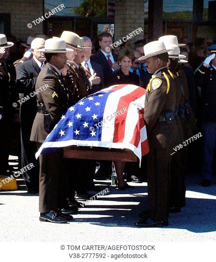 Deputy Sheriff's funeral in Morningside, Maryland