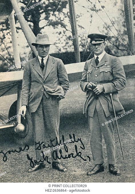 Captain John Alcock and Lieutenant Arthur Whitten Brown, British aviators, c1919 (c1937). Artist: Unknown