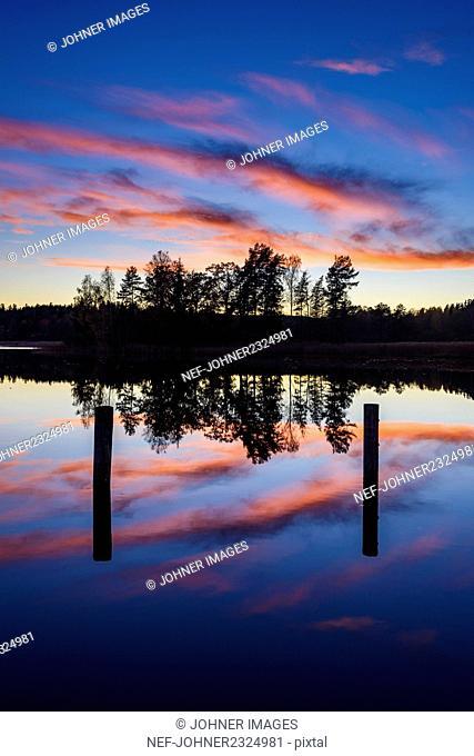 Sunset at lake