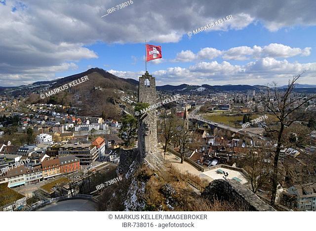 Stein fortress ruins, Baden, Aargau Canton, Switzerland, Europe