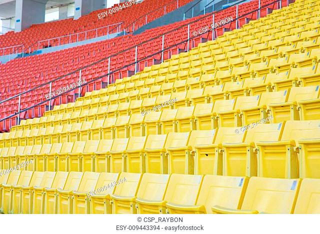 Empty seats at stadium