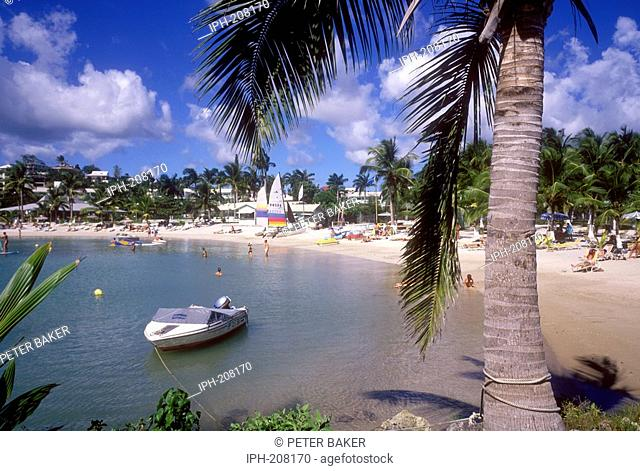 Gosier Beach on the island of Guadeloupe