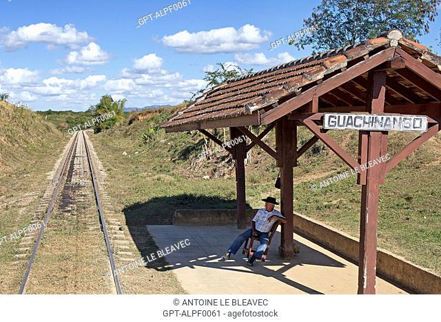 STATION AT THE PLANTATION OF LA CASA GUACHINANGO, OLD 18TH CENTURY HACIENDA IN LOS INGENIOS VALLEY, LISTED AS A WORLD HERITAGE SITE BY UNESCO, CUBA