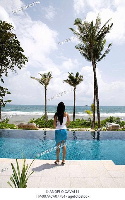 Thailand, Phuket, Trisara Resort. Thai Woman