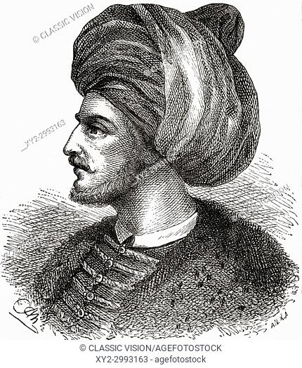 Mehmed II, aka Mehmed the Conqueror, 1432-1481. Ottoman Sultan. From Ward and Lock's Illustrated History of the World, published c. 1882