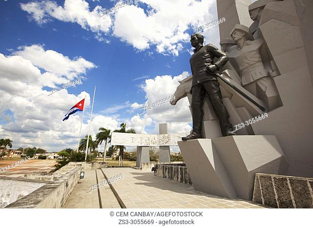 View to the Monument and Statue of Ignacio Agramonte in the Revolution Square-Plaza De La Revolucion at the historic center, Camagüey, Cuba, West Indies