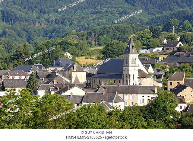 France, Saone et Loire, village of Anost, Parc Naturel Regional du Morvan (Morvan Regional Natural Park)