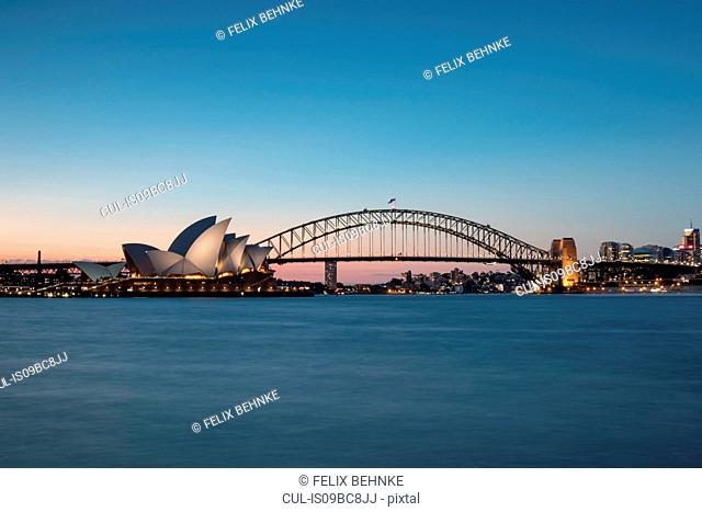 Sydney Harbor bridge and opera house, Sydney, New South Wales, Australia