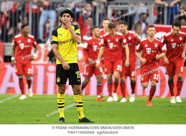 Mahmoud Dahoud (Borussia Dortmund), disappointment, frustrated, disappointed, frustrated, dejected, after versustor, action. Soccer 1. Bundesliga, 28