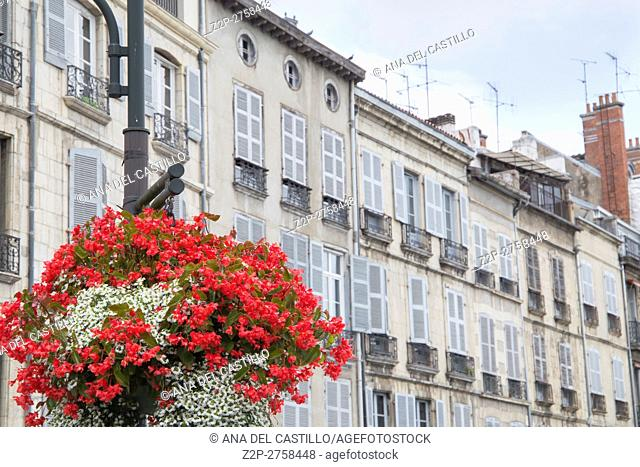 Bayonne in Aquitaine, on October 14, 2016 in France Floral detail at street