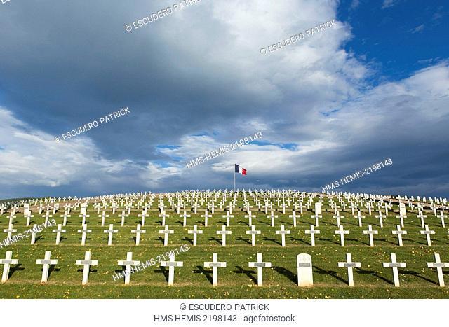 France, Haut Rhin, Route des Vins d'Alsace, Sigolsheim, National Necropolis, World War Two military cemetery