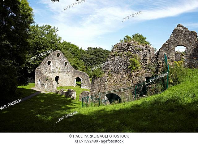 Cefn Cribwr Ironworks ruins, Glamorgan, Wales, UK