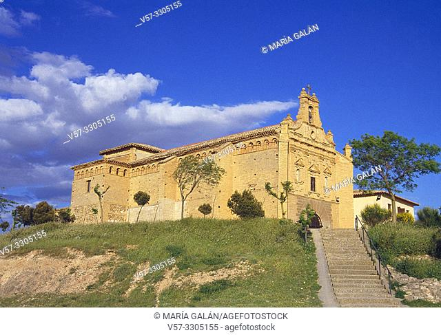 Virgen del Yugo church. Bardenas Reales Nature Reserve, Navarra, Spain