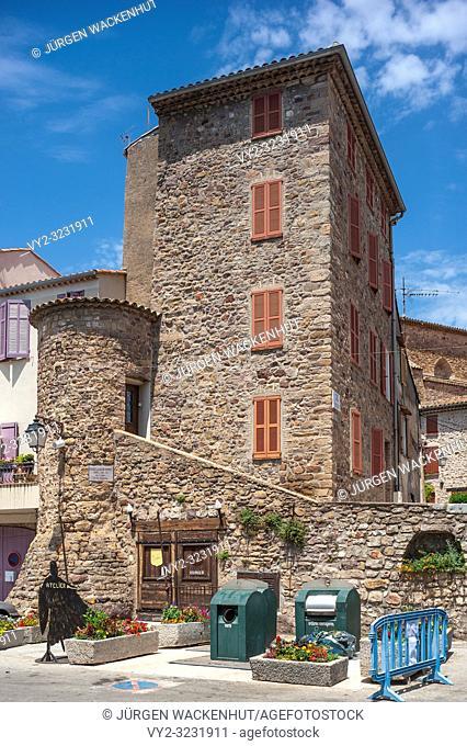 Historic old town, Roquebrune-sur-Argens, Var, Provence-Alpes-Cote d`Azur, France, Europe