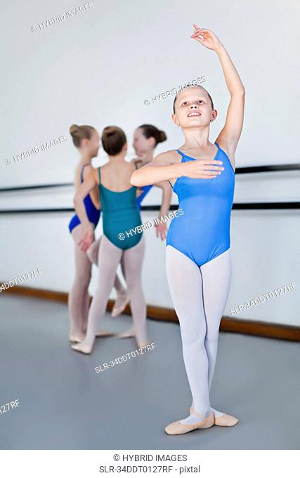 Ballet dancer power in studio