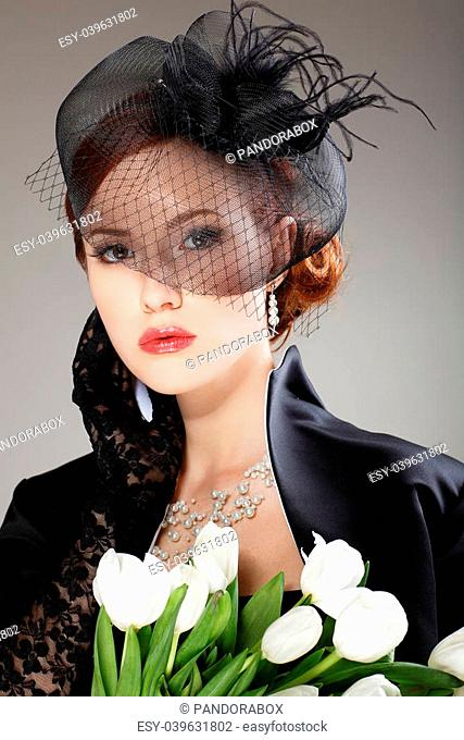 Woman Feather Hair Stock Photos And Images Age Fotostock