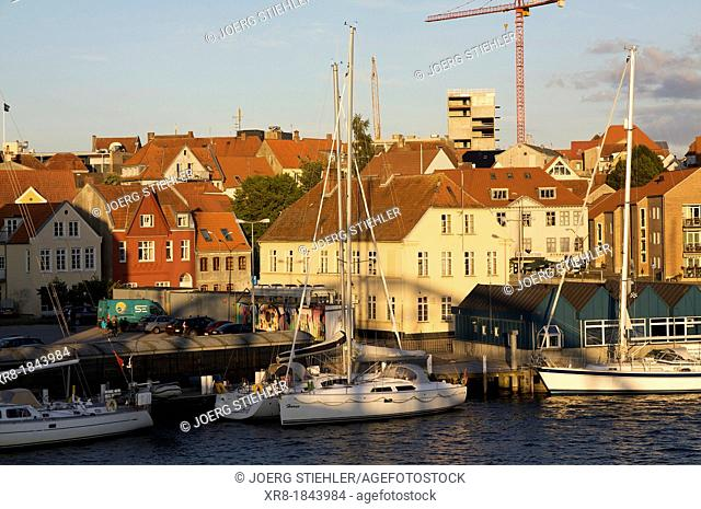 Habor of Sonderborg, Denmark, Baltic Sea
