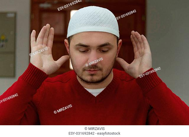 Photo of the Muslim Man Is Praying In The Mosque