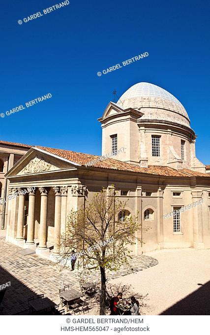 France, Bouches du Rhone, Marseille, Panier District, Centre de la Vieille Charite, historical monument of the 17th century