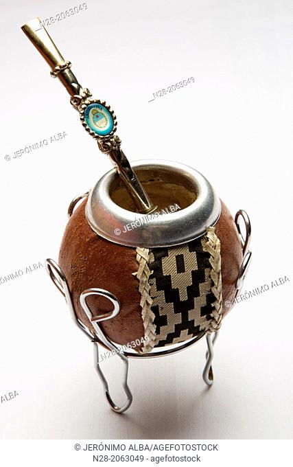 Argentine calabash gourd for drinking mate