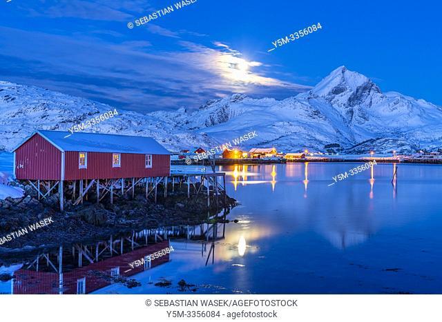 Sund, Flakstadøya, Lofoten, Nordland, Norway, Europe
