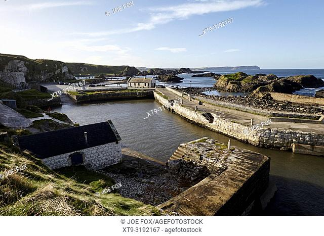 Ballintoy Harbour county antrim northern ireland used in Game of Thrones as the filming location for the Iron Islands
