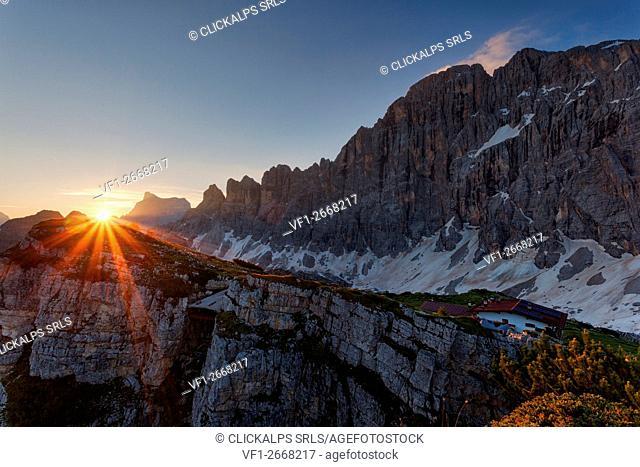 Civetta north face, Dolomites, Alleghe, Belluno, Veneto, Italy